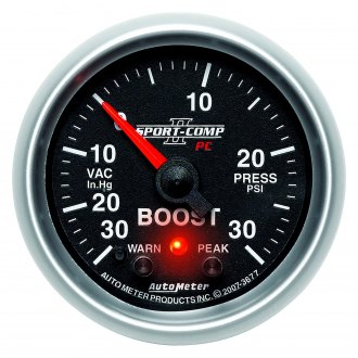 Auto Meter® - Sport-Comp PC™ 2-1/16 Electric Boost / Vacuum Gauge, 30 Hg / 30 psi