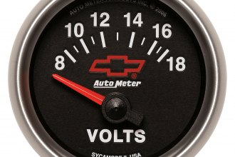 "Auto Meter® 3692-00406 - GM Series 2-1/16"" Short Sweep Electric Voltmeter Gauge (8 - 18 V)"