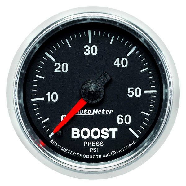 "Auto Meter® - GS™ 2-1/16"" Mechanical Boost Gauge, 0 - 60 psi"