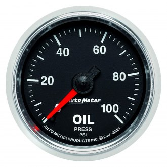 Auto Meter® - GS™ 2-1/16 Mechanical Oil Pressure Gauge , 0 - 100 psi