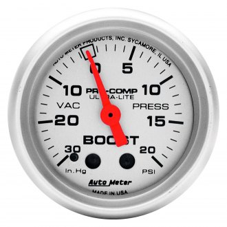Auto Meter® - Ultra-Lite™ 2-1/16 Mechanical Boost / Vacuum Gauge , 30 Hg / 20 psi
