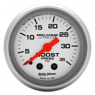 Auto Meter® - Ultra-Lite™ 2-1/16 Mechanical Boost Gauge , 0 - 35 psi