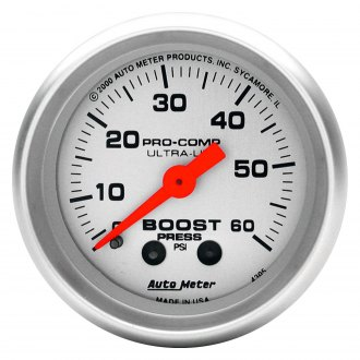 Auto Meter® - Ultra-Lite™ Boost In-Dash Gauge