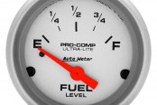 "Auto Meter® - Ultra-Lite™ 2-1/16"" Electric Fuel Level Gauge, 0 Ohms Empty - 30 Ohms Full"