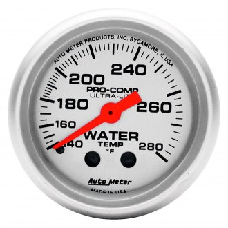 Auto Meter® - Ultra-Lite™ 2-1/16 Full Sweep Mechanical Water Temperature Gauge , 140 - 280 F