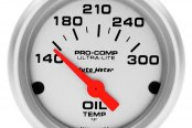 "Auto Meter® - Ultra-Lite™ 2-1/16"" Electric Oil Temperature Gauge, 140 - 300 F"