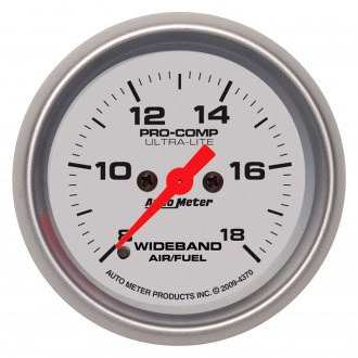 Auto Meter® - Ultra-Lite™ 2-1/16 Electric Wideband Band Air / Fuel Ratio Gauge , 8:1 - 18:1 AFR
