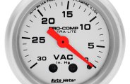 "Auto Meter� - Ultra-Lite� 2-1/16"" Mechanical Vacuum Gauge"