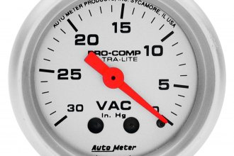"Auto Meter® - Ultra-Lite™ 2-1/16"" Mechanical Vacuum Gauge"