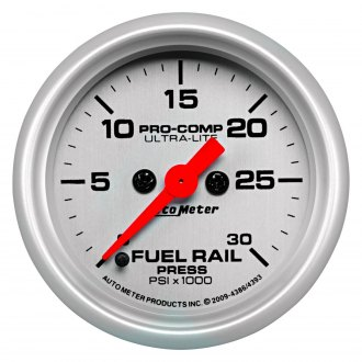 Auto Meter® - Ultra-Lite Fuel Rail Pressure In-Dash Gauge