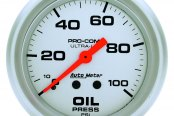 Auto Meter® - Ultra-Lite™ Oil Pressure In-Dash Gauge