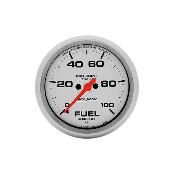 "Auto Meter® - Ultra-Lite™ 2-5/8"" Electric Fuel Pressure Gauge w/o Peak Memory and Warning, 0 - 100 psi"