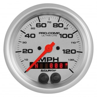 Auto Meter® - Ultra-Lite™ 3-3/8 In-Dash Electric Programmable Speedometer , 0 - 140 MPH