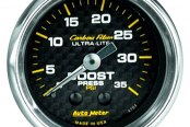 "Auto Meter® - Carbon Fiber™ 2-1/16"" Mechanical Boost Gauge, 0 - 35 psi"