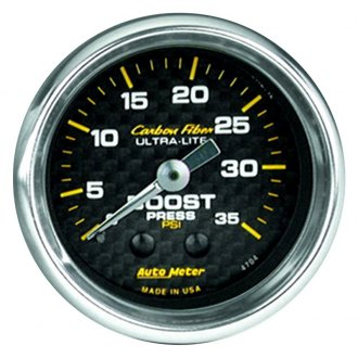 Auto Meter® - Carbon Fiber™ 2-1/16 Mechanical Boost Gauge, 0 - 35 psi