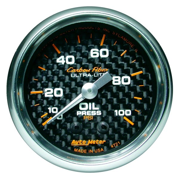 Auto Meter® - Carbon Fiber™ Oil Pressure In-Dash Gauge