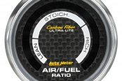 "Auto Meter® - Carbon Fiber™ 2-1/16"" Digital Air / Fuel Ratio Gauge, Lean-Rich"
