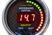 "Auto Meter® - Carbon Fiber™ 2-1/16"" Digital Wideband Band Air / Fuel Ratio Gauge, AFR or Lambda"
