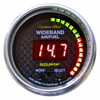 Auto Meter® - Carbon Fiber Series Air/Fuel Ratio Gauges