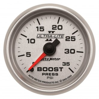 Auto Meter® - Ultra-Lite II™ 2-1/16 Mechanical Boost Gauge , 0 - 35 psi