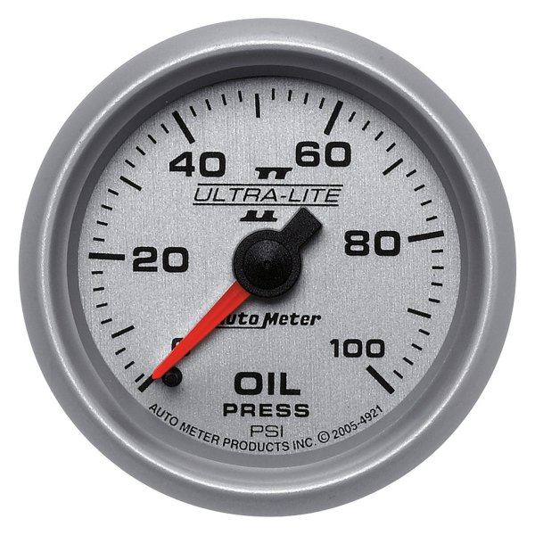 "Auto Meter® - Ultra-Lite II™ 2-1/16"" Mechanical Oil Pressure Gauge, 0 - 100 psi"