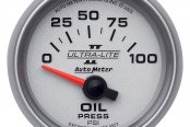 "Auto Meter® - Ultra-Lite II™ 2-1/16"" Short Sweep Electric Oil Pressure Gauge, 0 - 100 psi"