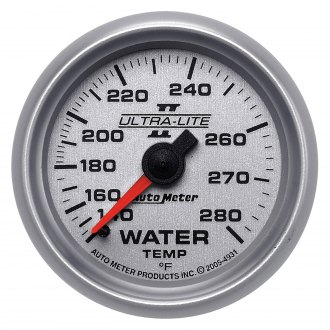 Auto Meter® - Ultra-Lite II™ 2-1/16 Full Sweep Mechanical Water Temperature Gauge , 140 - 280 F