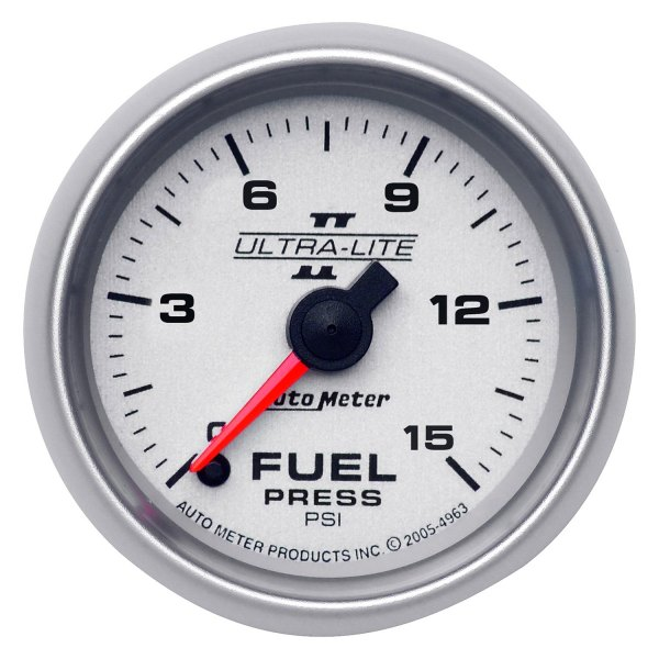 "Auto Meter® - Ultra-Lite II™ 2-1/16"" Electric Fuel Pressure Gauge, 0 - 15 psi"