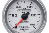 "Auto Meter® - Ultra-Lite II™ 2-1/16"" Electric Fuel Pressure Gauge, 0 - 100 psi"