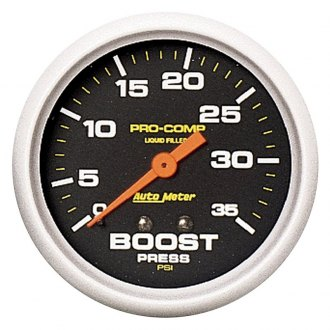 Auto Meter® - Pro-Comp™ 2-5/8 Liquid-Filled Mechanical Boost Gauge, 0 - 35 psi