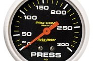 "Auto Meter� - Pro-Comp� 2-5/8"" Liquid-Filled Mechanical Pressure Gauge"