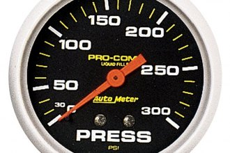 "Auto Meter® - Pro-Comp™ 2-5/8"" Liquid-Filled Mechanical Pressure Gauge"