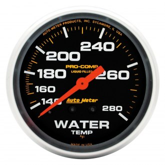 Auto Meter® - Pro-Comp™ 2-5/8 Liquid-Filled Mechanical Water Temperature Gauge , 140 - 280 F