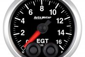 "Auto Meter® - Elite Series 2-1/16"" Electric EGT / Pyrometer Gauge, 0 - 1600 F"