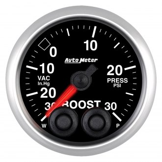 Auto Meter® - Elite Series 2-1/16 Electric Boost / Vacuum Gauge, 30 Hg / 30 psi