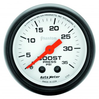 Auto Meter® - Phantom™ 2-1/16 Mechanical Boost Gauge , 0 - 35 psi