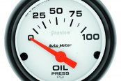 "Auto Meter® - Phantom™ 2-1/16"" Short Sweep Electric Oil Pressure Gauge, 0 - 100 psi"