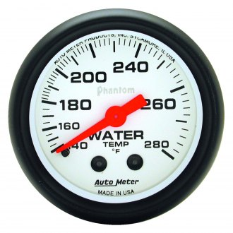 Auto Meter® - Phantom™ 2-1/16 Full Sweep Mechanical Water Temperature Gauge , 140 - 280 F