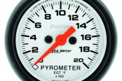 "Auto Meter® - Phantom™ 2-1/16"" Electric EGT / Pyrometer Gauge, 0 - 2000 F"