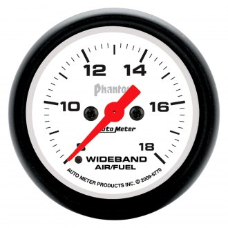 Auto Meter® - Phantom™ 2-1/16 Electric Wideband Band Air / Fuel Ratio Gauge , 8:1 - 18:1 AFR