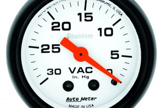 "Auto Meter® - Phantom™ 2-1/16"" Mechanical Vacuum Gauge"
