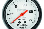 "Auto Meter® - Phantom™ 2-5/8"" Mechanical Fuel Pressure Gauge, 0 - 15 psi"