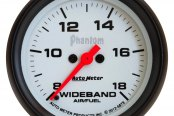 "Auto Meter® - Phantom™ 2-5/8"" Electric Wideband Band Air / Fuel Ratio Gauge, 8:1 - 18:1 AFR"