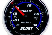 "Auto Meter® - Cobalt™ 2-1/16"" Mechanical Boost / Vacuum Gauge, 30"" Hg / 30 psi"