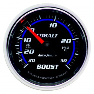Auto Meter® - Cobalt™ 2-1/16 Mechanical Boost / Vacuum Gauge , 30 Hg / 30 psi