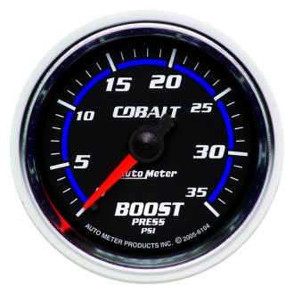 Auto Meter® - Cobalt™ 2-1/16 Mechanical Boost Gauge , 0 - 35 psi