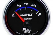 "Auto Meter® - Cobalt™ 2-1/16"" Electric Fuel Level Gauge, 240 Ohms Empty - 33 Ohms Full"