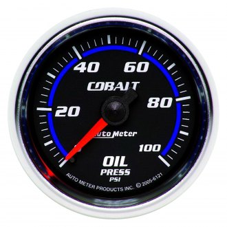 Auto Meter® - Cobalt™ 2-1/16 Mechanical Oil Pressure Gauge , 0 - 100 psi