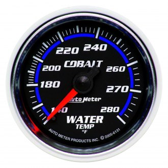 Auto Meter® - Cobalt™ 2-1/16 Full Sweep Mechanical Water Temperature Gauge , 140 - 280 F