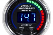 "Auto Meter® - Cobalt™ 2-1/16"" Digital Wideband Band Air / Fuel Ratio Gauge, AFR or Lambda"